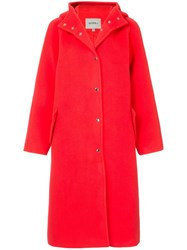 Goen.J Hooded Coat Red