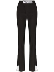 Filles A Papa Tailored Logo Patch Trousers Black