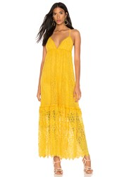 Saylor Danette Dress Mustard