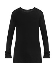 Haider Ackermann Fugazi Ribbed Jersey T Shirt Black