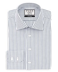 Thomas Pink Percival Check Dress Shirt Bloomingdale's Classic Fit White Navy