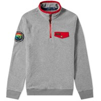Polo Ralph Lauren Polar Fleece Half Zip Sweat Grey