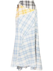 Rosie Assoulin Cut And Paste Skirt White