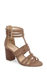 Sole Society Women's 'Elise' Gladiator Sandal Taupe Suede