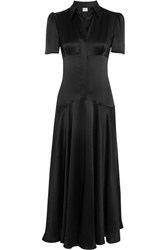Hillier Bartley Plimpton Silk Satin Dress Black
