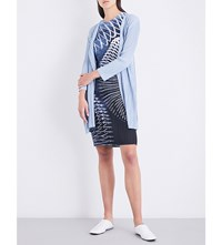 Issey Miyake Pleats Please Pastel Pleated Coat Blue