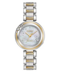 Citizen Carina Diamonds And Two Toned Stainless Steel Watch Em0464 59D