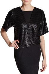 Steve Madden Short Sleeve Sequin Shrug Black