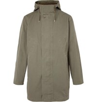 A.P.C. Cotton Canvas Hooded Parka Green