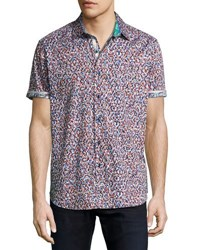 Robert Graham Mohave Short Sleeve Sport Shirt Multi
