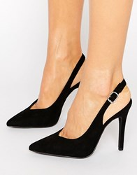 New Look Suedette Slingback Heel Black
