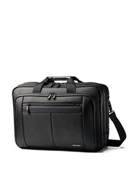 Samsonite Leather Expandable Business Case Black