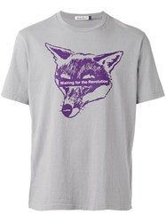 Undercover Fox Print T Shirt Grey