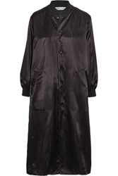 Comme Des Garcons Oversized Satin Jacket Black