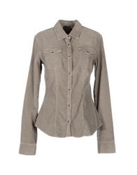 People Long Sleeve Shirts Khaki