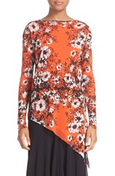Fuzzi Women's Floral Print Tulle Top