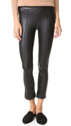David Lerner Pin Tuck Flared Cropped Pants Classic Black