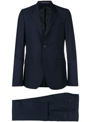 Givenchy Textured Stripe Suit Blue