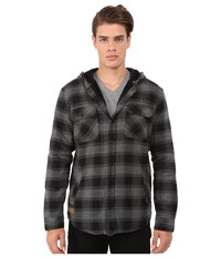 Rip Curl Hayes Long Sleeve Flannel Black Men's Jacket
