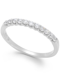 Macy's Diamond Scalloped Band In 14K White Gold 1 4 Ct. T.W.