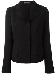 Dolce And Gabbana Fitted Jacket Black