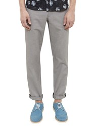 Ted Baker Clasmor Oxford Stretch Cotton Chinos Grey