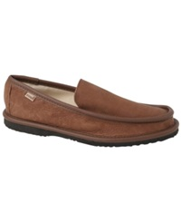 L.B. Evans Deer King Leather Slippers Men's Shoes Mocha