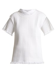 Craig Green Piped Cotton Hooded T Shirt White