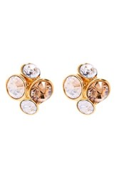 Women's Ted Baker London 'Lynda' Jewel Cluster Stud Earrings Gold Multi