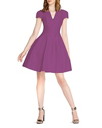 Halston Heritage Short Sleeve Tulip Skirt Dress