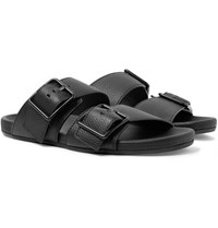 Lanvin Full Grain Leather Sandals Black