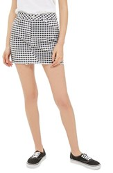 Topshop Women's Gingham Miniskirt Black Multi