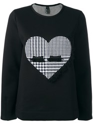 Mother Heart Patch Sweatshirt Black