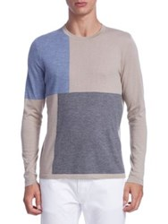 Saks Fifth Avenue Collection Patchwork Cashmere Sweater Multi