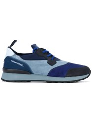 Hogan Rebel Panelled Trainers Men Leather Polyester Rubber 8 Blue
