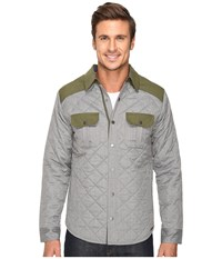 Smartwool Summit County Quilted Shirt Jacket Light Gray Heather Men's Clothing