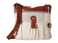 The Sak Kendra Leather Crossbody Stone Perf Cross Body Handbags Beige