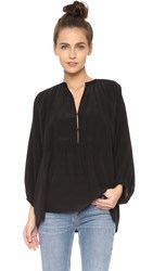 Apiece Apart Santa Clara Tunic Top Black