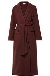 The Row Amoy Cashmere And Wool Blend Felt Coat Burgundy