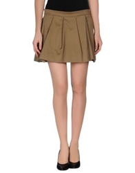 Thakoon Addition Mini Skirts Khaki