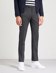 Slowear Slim Fit Tapered Wool Blend Trousers Charcoal