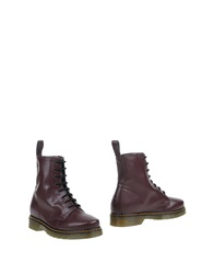 Hap Ankle Boots Maroon