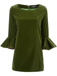 Capucci Flare Sleeve Dress Green