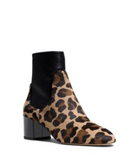 Michael Kors Erin Leopard Calf Hair And Leather Ankle Boot Barley Cheetah