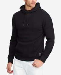 Polo Ralph Lauren Men's Big And Tall Waffle Knit Hoodie Black