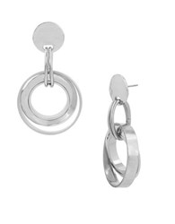 Robert Lee Morris Multi Circle Drop Earrings Silver