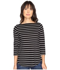 Pendleton Marseille Stripe Tee Black White Women's T Shirt