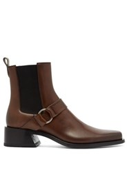 Givenchy Austin Harness Leather Boots Brown