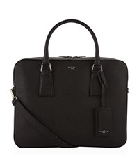 Sandro Leather Briefcase Black