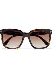 Tom Ford Amarra Square Frame Tortoiseshell Acetate Sunglasses Brown